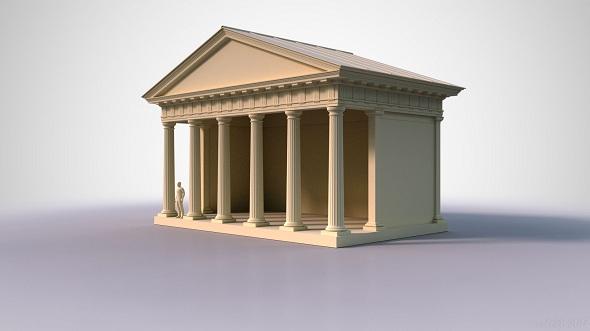 Doric Temple 1 - 3DOcean Item for Sale