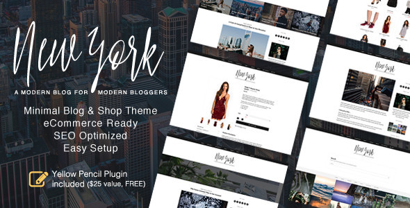 New York - WordPress Blog & Shop Theme - Personal Blog / Magazine