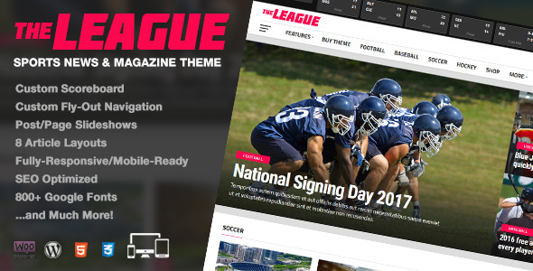 The League - Sports News & Magazine WordPress Theme - News / Editorial Blog / Magazine
