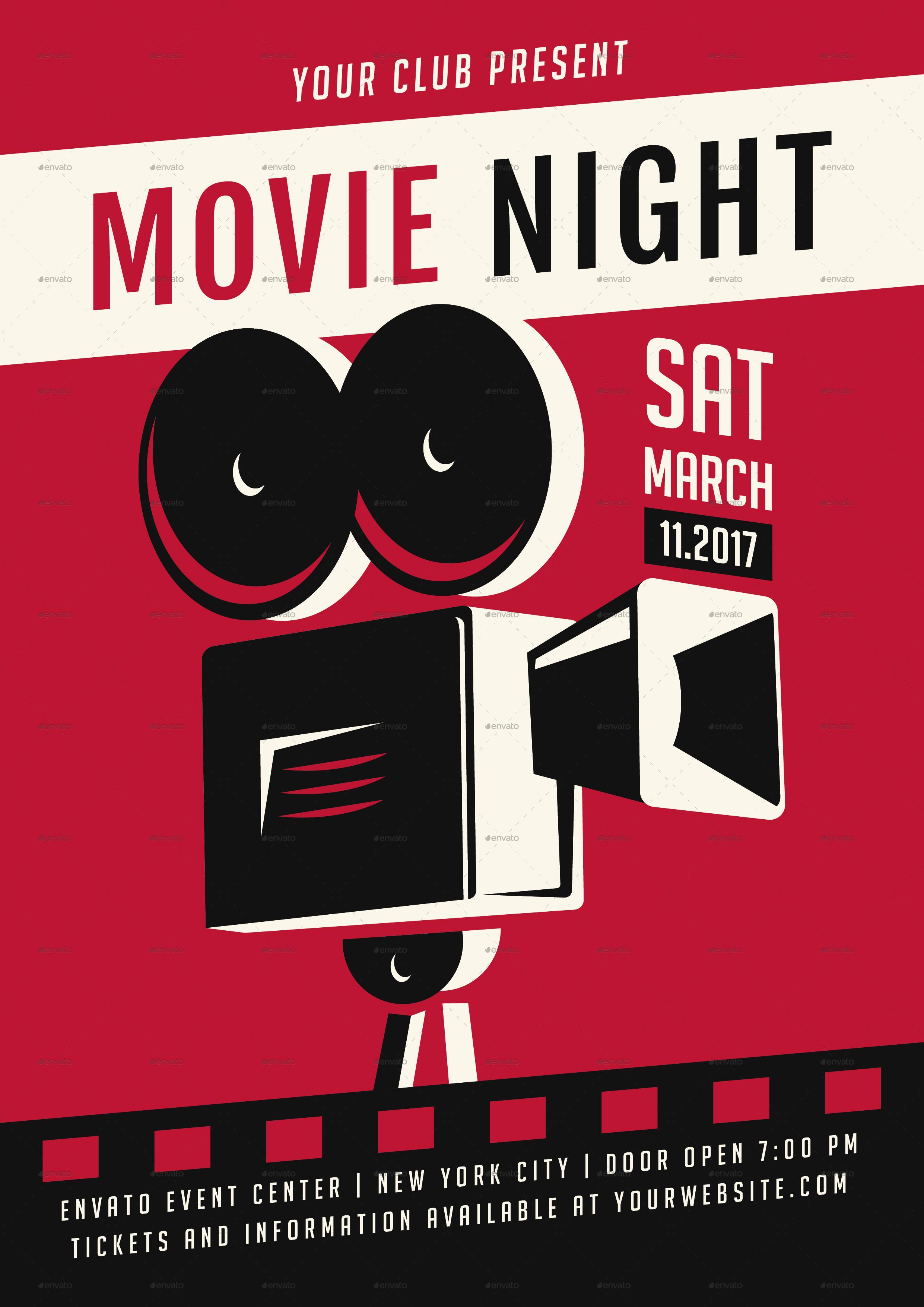 movie night flyer by ming