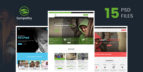 Sympathy | Charity, Non-Profit & Donations PSD Template