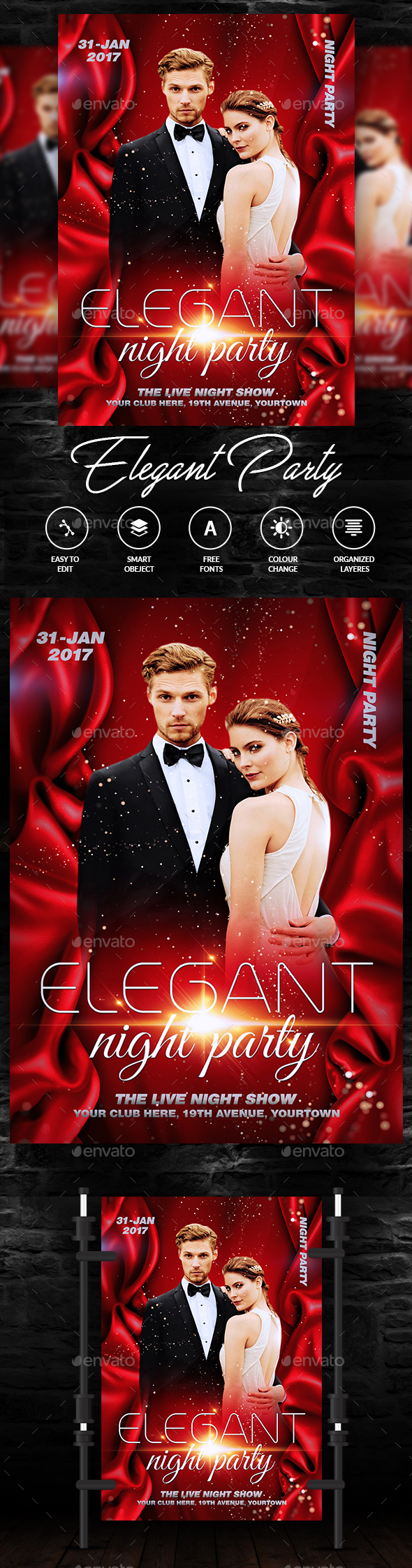 Elegant Party Flyer - Events Flyers