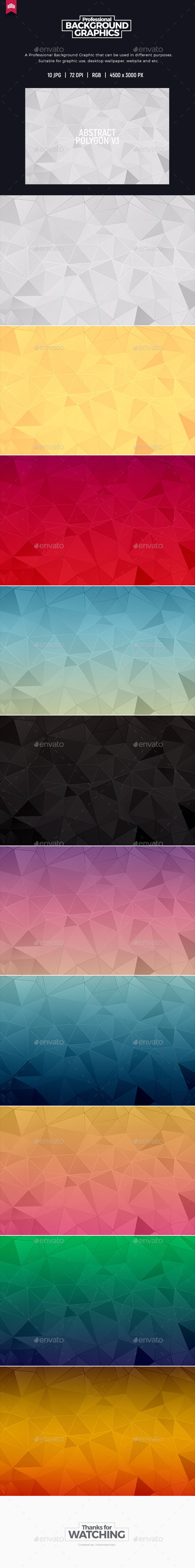 Abstract Polygon Background - Abstract Backgrounds