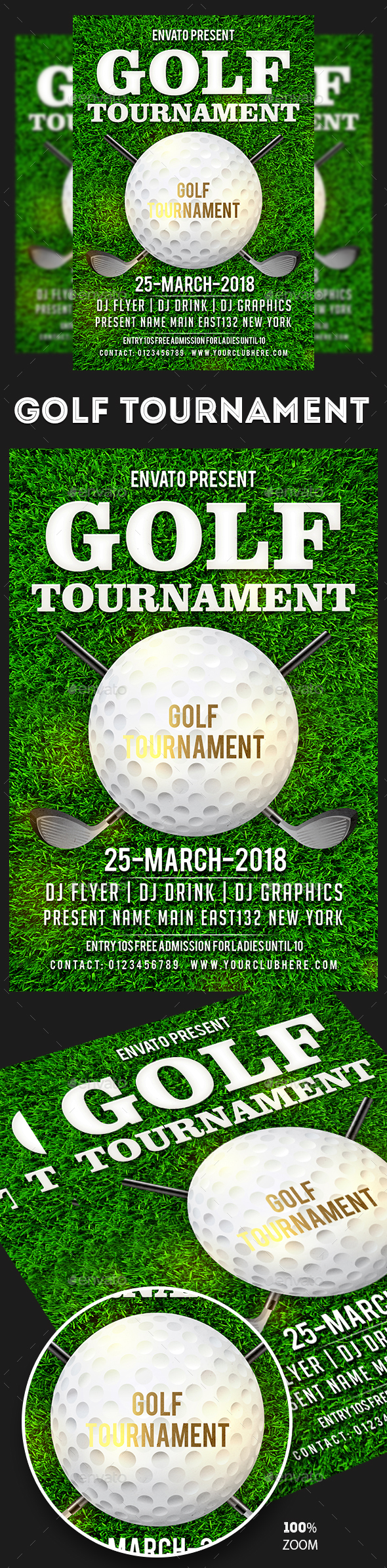Golf Tournament Flyers - Sports Events