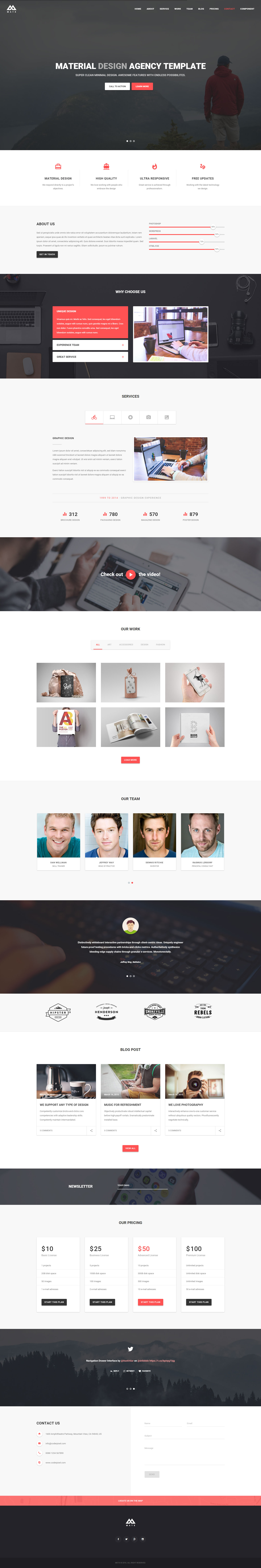 MATX - Material Design Agency Theme by coderpixel | ThemeForest