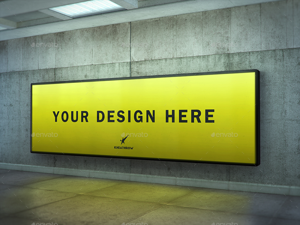 Urban Subway Billboard Lightbox Mock-Ups by Kheathrow | GraphicRiver