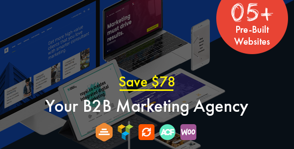 Marketing, B2B Marketing, Landing, SEO WordPress Theme - Royal