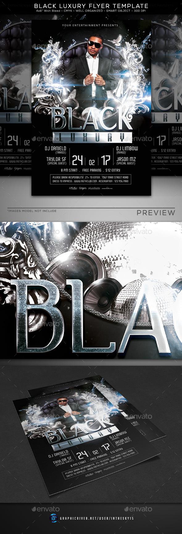 Black Luxury Flyer Template - Flyers Print Templates