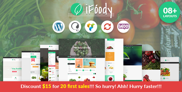 VG iFoody – Responsive WooCommerce WordPress Theme