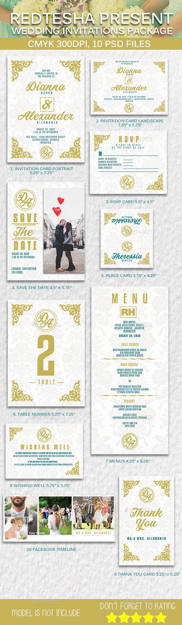 Wedding Invitation Package - Weddings Cards & Invites