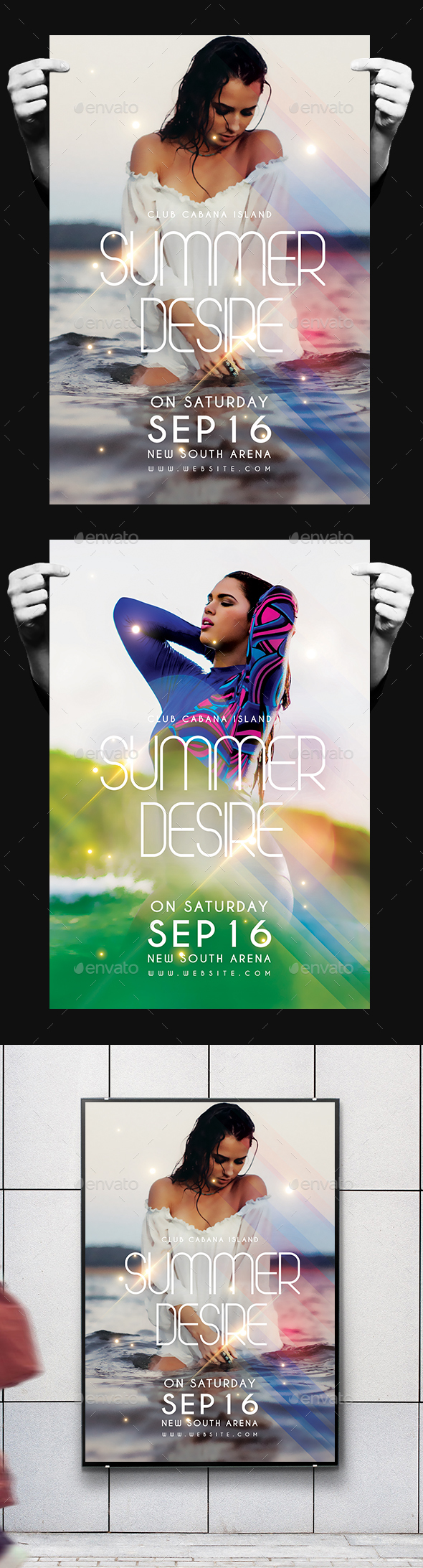 Summer Desire Flyer - Clubs & Parties Events