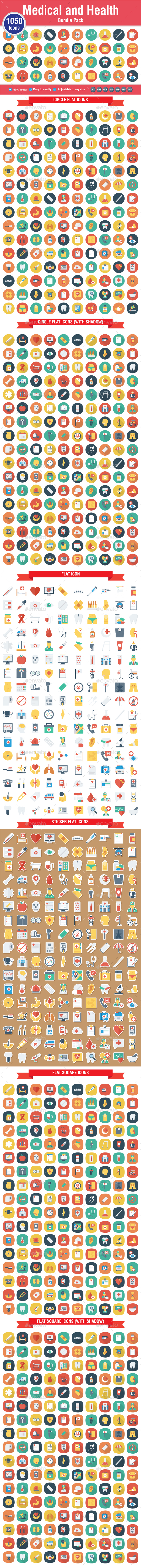1050 Medical & Health Icons - Icons