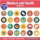 1050 Medical & Health Icons - GraphicRiver Item for Sale