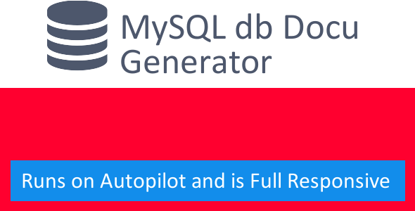 MySQL Documentation Generator - CodeCanyon Item for Sale
