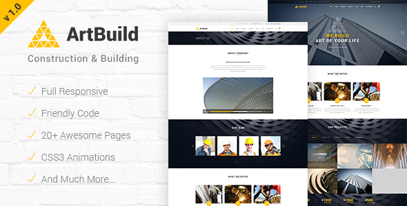 ARTBUILD | Construction & Building HTML Template - Corporate Site Templates