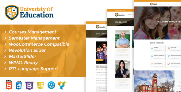 University of Education WordPress Theme – Courses Management WP