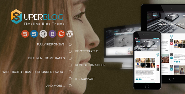 Super Blog - WooCommerce Responsive WordPress Theme - Personal Blog / Magazine