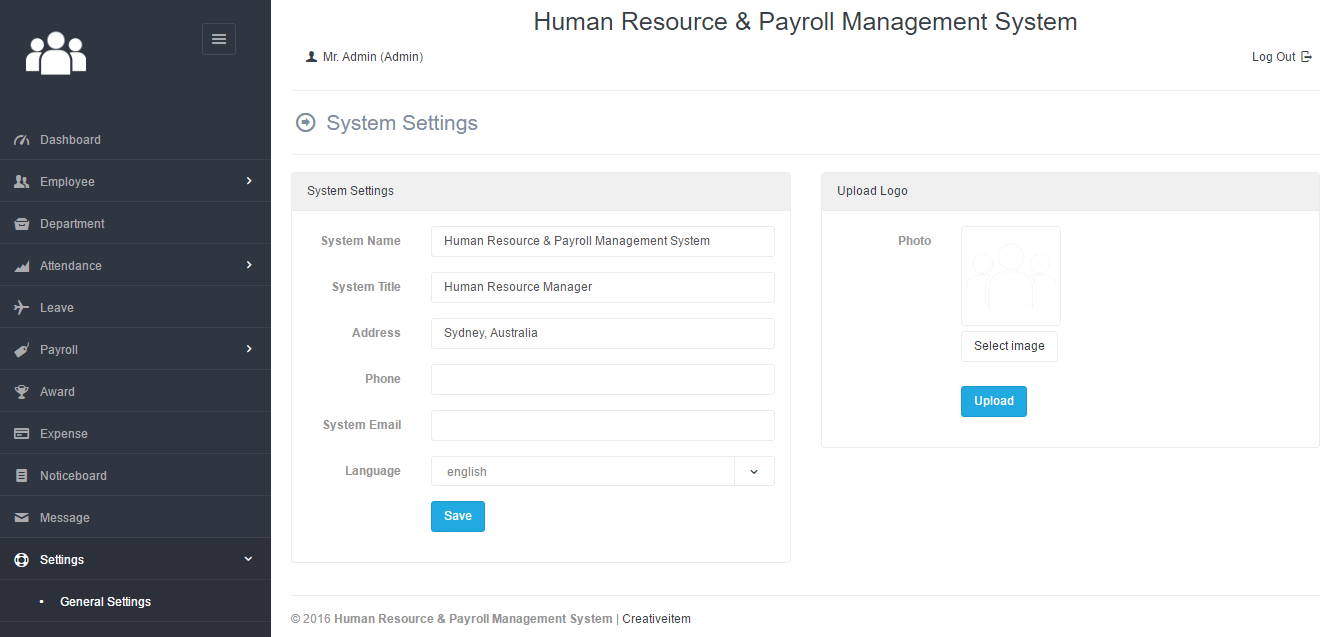 Human Resource & Payroll Management System by Creativeitem ...