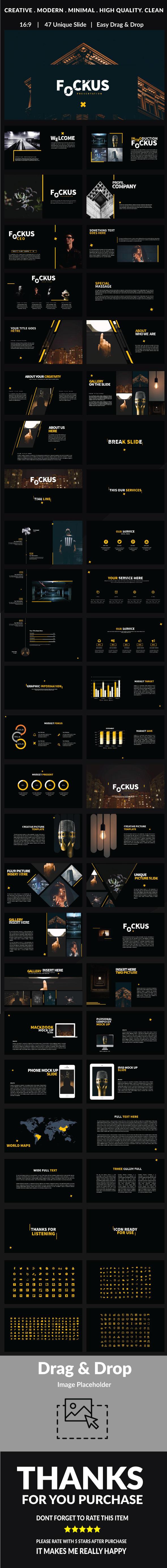 Fockus - Multipurpose Powerpoint - PowerPoint Templates Presentation Templates