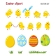 Set of Easter Clip Art with Chicks - GraphicRiver Item for Sale