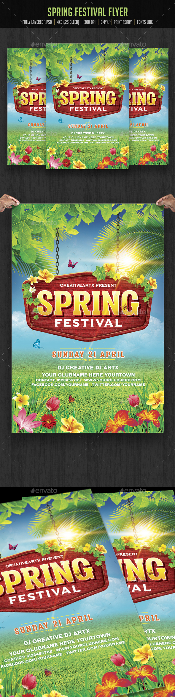Spring Festival Flyer - Clubs & Parties Events
