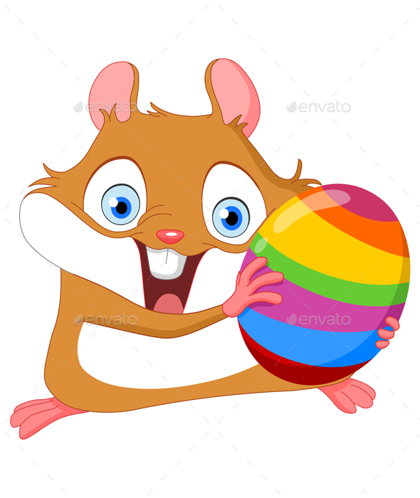 Hamster for Easter - Miscellaneous Seasons/Holidays