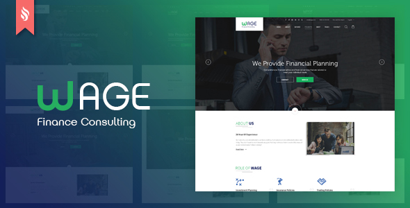Wage - Business and Finance PSD Template - Business Corporate