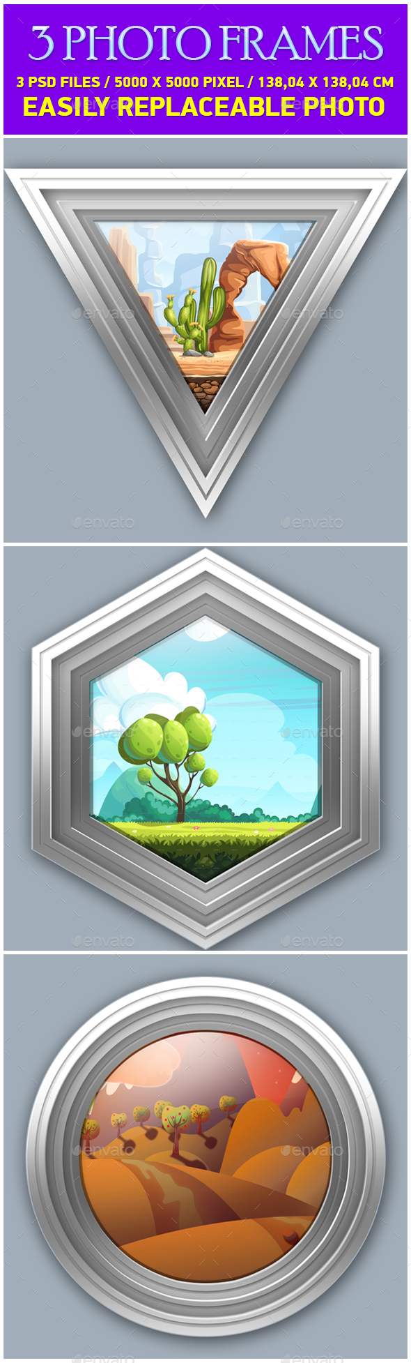 Gray Photo Frames - Photo Templates Graphics