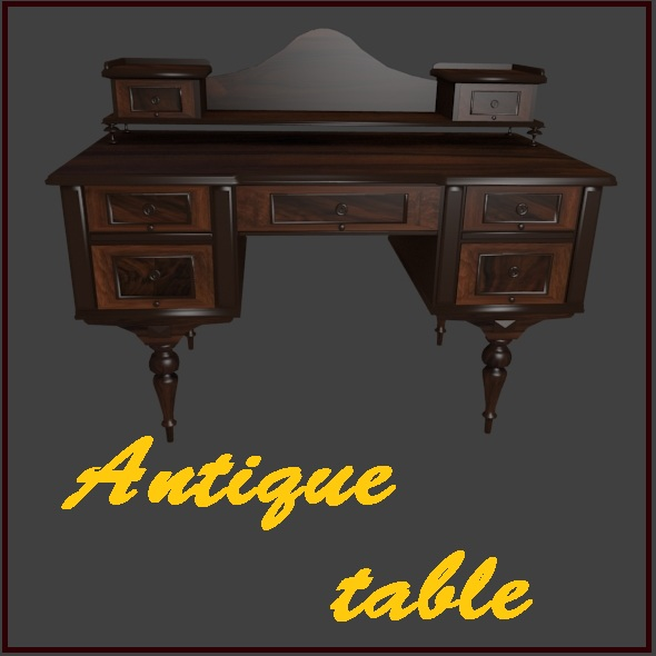 Antique table - 3DOcean Item for Sale