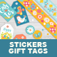 Easter Gift Tags with Sticker and, Tapes - GraphicRiver Item for Sale