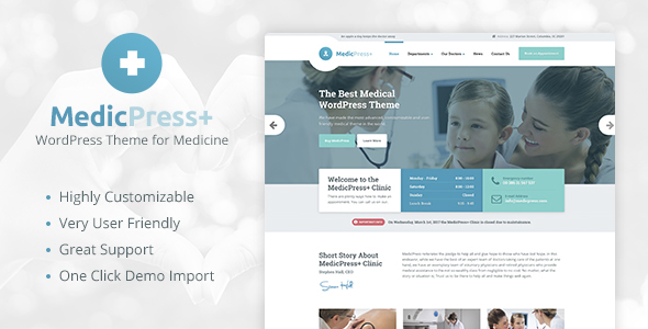 MedicPress – Medical WordPress Theme for Clinics and Private Doctors