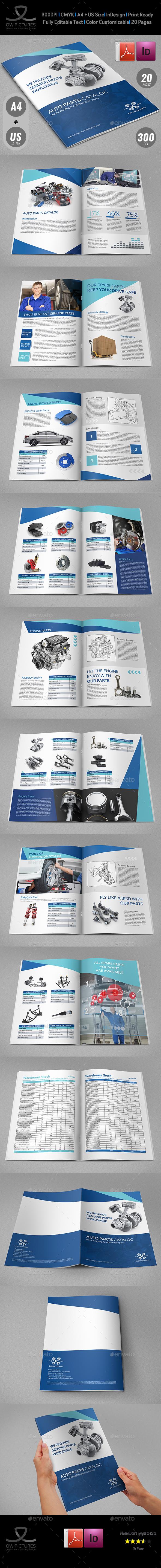 Auto Parts Catalog Brochure Template - 20 Pages - Catalogs Brochures