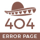 Mexico Desert Error 404 Page Template - GraphicRiver Item for Sale