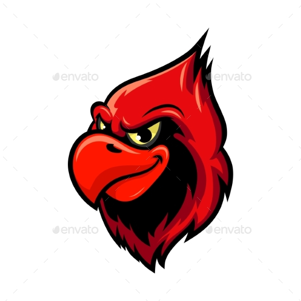 Cardinal Bird Cartoon Mascot Design - Animals Characters