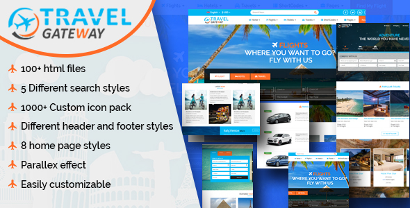 Travel Gateway - Creative Travel Agency HTML5 Template - Travel Retail