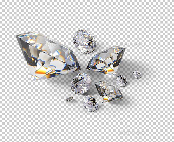 Isometric Diamonds - Objects 3D Renders