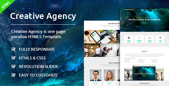 Creative Agency – One Page Agency Template