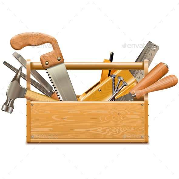 Vector Toolbox with Retro Instruments - Industries Business