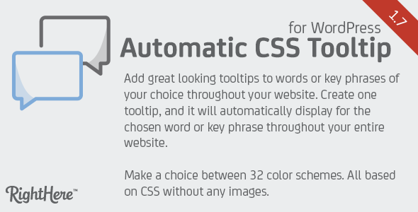 Automatic CSS Tooltip for WordPress - CodeCanyon Item for Sale