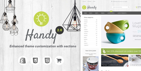 Handy - Handmade Shop Shopify Theme - Shopping Shopify