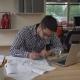 Successful Designer Works in the Design Agency.