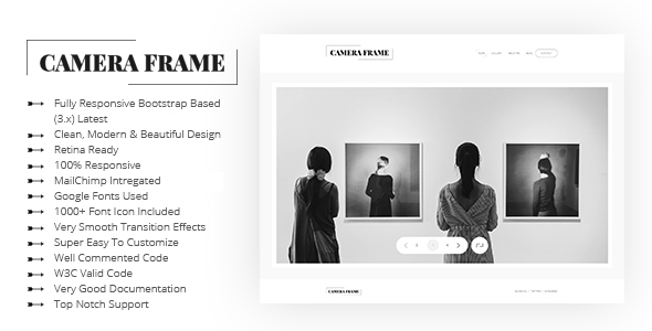 Camera Frame Photography Portfolio Templates