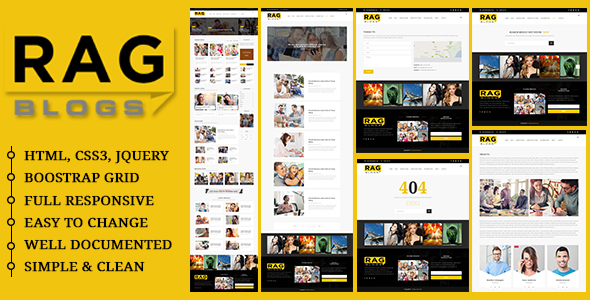 Rag – Blog Magazine HTML Template