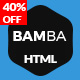 Bamba - One Page Clean Responsive Business HTML5 Template - ThemeForest Item for Sale