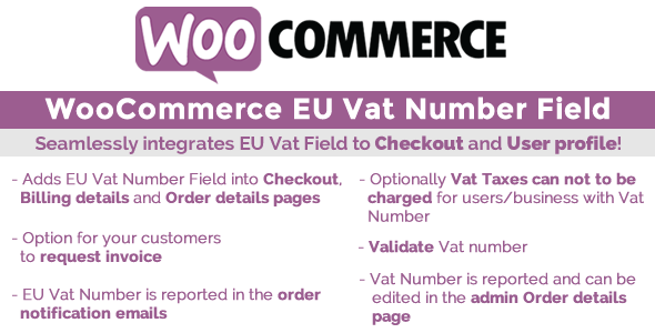 Invoice Forms Online Excel Woocommerce Eu Vat Field By Vanquish  Codecanyon Offical Receipt Word with Read Receipt Imessage Woocommerce Eu Vat Field  Codecanyon Item For Sale Receipts Online Free Word