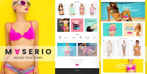 Maserio - Lingerie PrestaShop 1.7 and 1.6 Theme