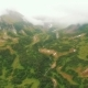Aerial View. Flying Through a Green Mountain. - VideoHive Item for Sale