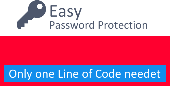 Easy Password Protection - CodeCanyon Item for Sale