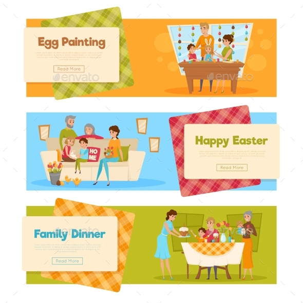 Easter Holiday Banners Set - Miscellaneous Seasons/Holidays