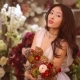 Woman and Flowers. Asian Girl with Bouquet - VideoHive Item for Sale